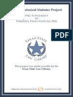 1942 Supplement to 1936 Vernons Texas Statutes