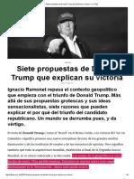 Ramognet, Ignacio - Siete Propuestas de Donald Trump Que Explican Su Victoria – La Tinta
