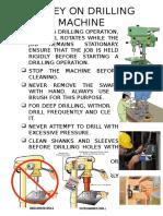 Saftey on Drilling Machine