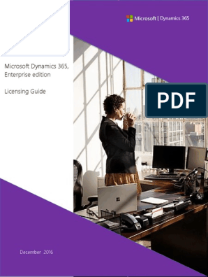 Dynamics 365 Enterprise Edition Licensing Guide | Microsoft