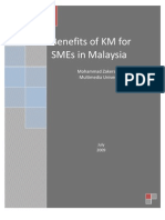Benefits of KM for SMEs in Malaysia