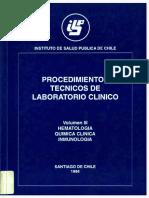 Procedimientos Tecnicos de Laboratorio Clinico - Hematologia, Quimica Clinica, Inmunologia (Vol.i (1)