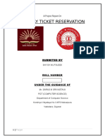 """RAILWAY TICKET RESERVATION"""