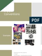 Digipak Conventions