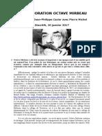"""""""Commémoration Octave Mirbeau"""", Entretien avec Pierre Michel"""