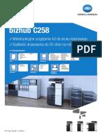 Bizhub c258 Datasheet Pl l
