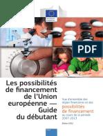 Les possibilités de financement de l'Union européenne (1)