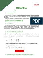 Física - Aula 02 - Mecância - Movimentos
