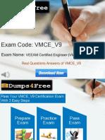 Dumps4free VMCE-V9 Exam Dumps
