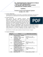 (IUP Syllabus 1st Semester 2015) Indonesian Social and Political System