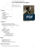 List of Compositions by Claude Debussy by Genre - Wikipedia