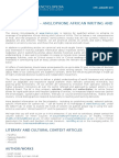 CFP - Anglophone African Writing and Culture