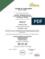 Declaratie de Conformitate CE - Sistemul Absolut 2011