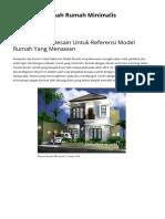 Kumpulan Ide Desain Untuk Referensi Model Rumah Yang Menawan _ Ide Desain Denah Rumah Minimalis