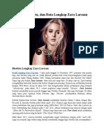 Profil, Biodata, Dan Data Lengkap Zara Larsson