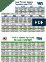 Fixture del Torneo de Verano, Apertura y Clausura 2017