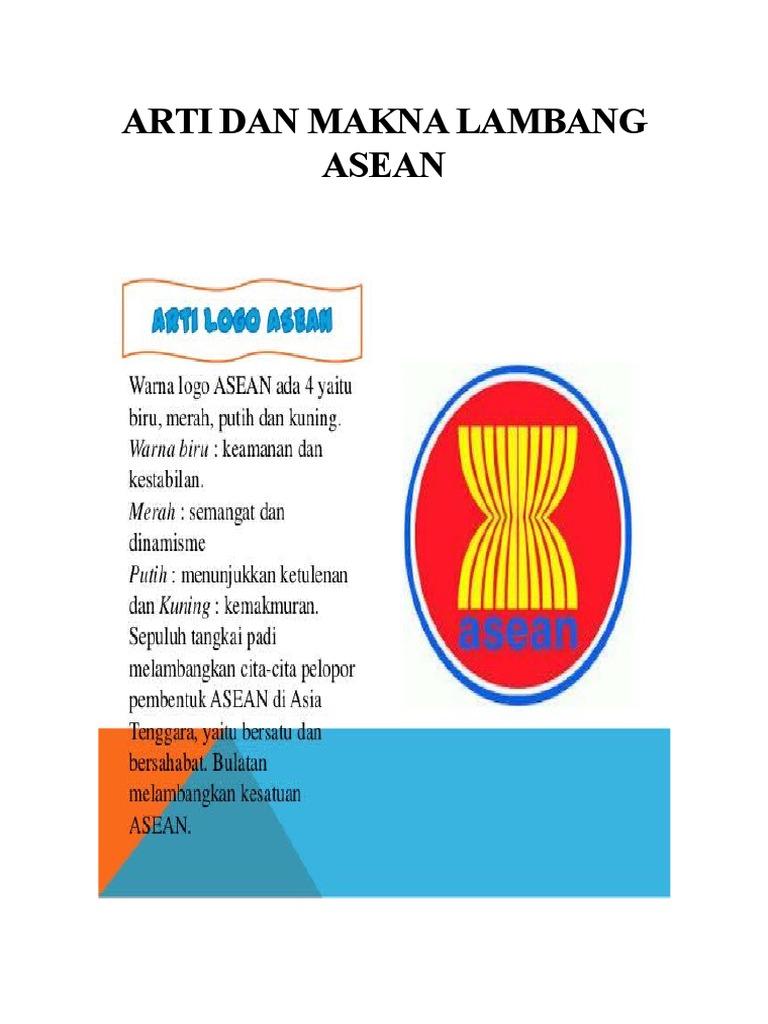 Lambang Negara Asean Dan Artinya Info Gtk