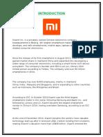 Xiaomi Assignement