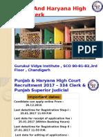 High Court Clerk Coaching in Chandigarh