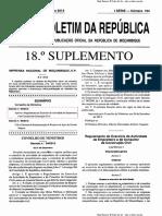 Decreto 94 2013 - Regulamento do Exercício da Actividade de Empreiteiro e de Consultor de Construção Civil em Moçambique