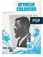 A collection of the compositions by Ornette Coleman