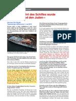 """Gaza Friedensflotilla - Bei abfahrt des Schiffes wurde """"Tod den Juden"""" gesungen"""