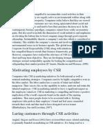 Roles of CSR in Marketing