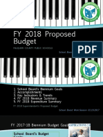 Fy 2018 Supt's Proposed Bud for Sb -- 01.19.2017 -- Pps Final (Use)