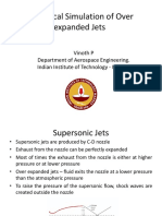 Numerical Simulation of Over Expanded Jets