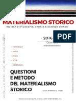 Materialismo Storico. Rivista Di Filosofia, Storia e Scienze Umane, n. 1-2 2016