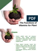 Vitamins Sebagai ZPT