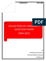 University Qn Paper 1990 to 2015