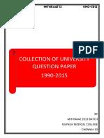 University Qn Paper 1990 to 2015