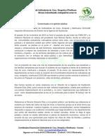 COCCAM - COMUNICADO A LA OPINIÓN PÚBLICA