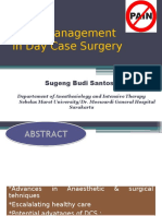 Pain Management in Day Case Surgery