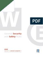 Regles Generales de Securite Et Surete En