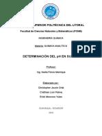 Determinacion de Ph Proyecto de Analitica