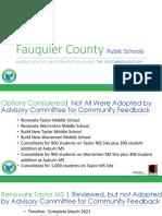 Middle School consultant presentation
