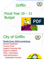 City of Griffin Fiscal Year 2010-2011 Budget