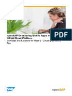 OpenSAP Mobile2 Week 5 Exercises