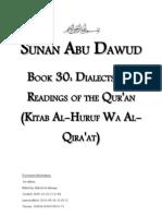 Sunan Abu Dawud - Book 30 - Dialects and Readings of the Qur'an (Kitab Al-Huruf Wa at