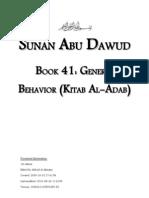 Sunan Abu Dawud - Book 41 - General Behavior (Kitab Al-Adab)