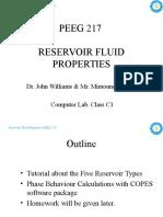 (2) PEEG 217 Reservoir Fluid Properties - Computer Lab Class 01-18-22APR10
