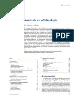 Anestesia en Oftalmologia