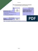 Copy of Draft Survey Calculation