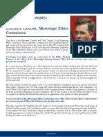 Profile in Public Integrity - Tom Hood