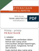 - Prinsip Penataan Hirarki & Repetisi