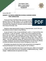 Several arrested after drug raid Thursday