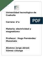 Electricidad y Magnetismo Unidad 1