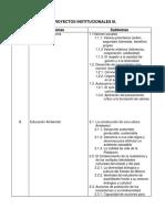 Proyectos Institucionales III
